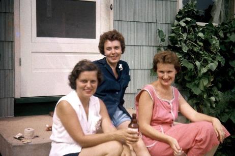 Irene, Agnes, Virginia August 1955