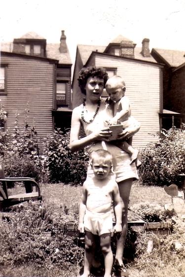 Agnes, Cork, Jeff, summer 1945crop