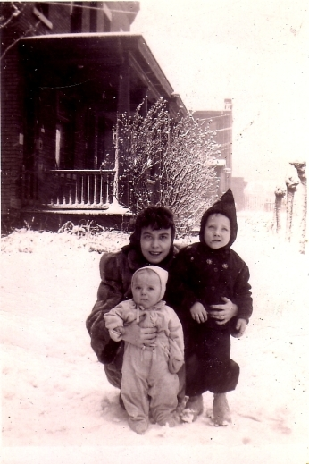 Agnes, Cork, Jeff, winter 1945crop