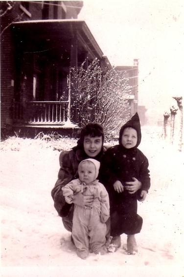 Agnes, Cork, Jeff, winter 1945crop